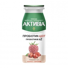 Йогурт 100г Активіа шот малина-шипшина 1,4% п/бут