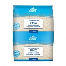 Крупа 1 кг Розумний вибір рис круглозернистий шлiфований