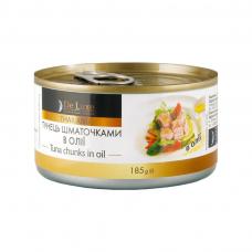Консерви 185г De Luxe Foods & Goods Selected Тунець шматочками в олії