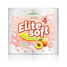 Туалетная бумага 4 шт Своя Линия Elite Soft ароматизированная двухслойная с цветным тиснением