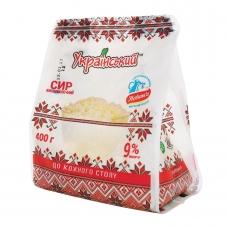 Сир кисломолочний 400г Український 9%