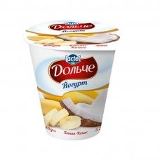 Йогурт Дольче Банан-Кокос 3,2%, 280г